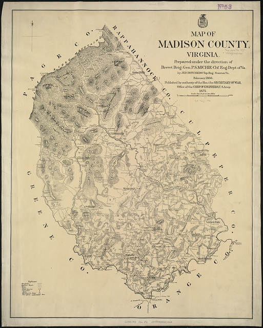 Map Of Madison County Virginia  Zoom Into This Map At