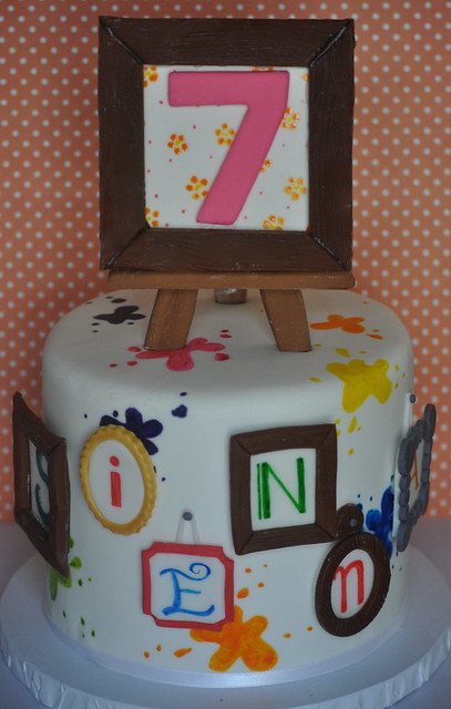 Cake Art By Des : Art Cake Little cake I did for a painting party. The ...
