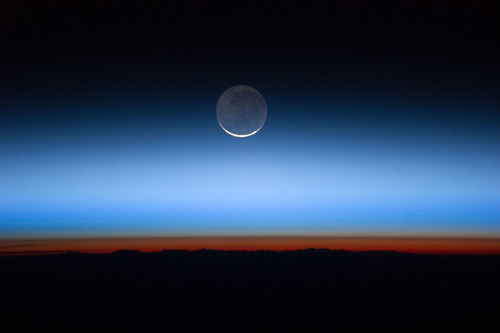 Moon Over Earth (NASA, International Space Station, 07/31/11) [Explored]