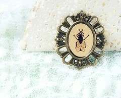 Fly ugly-cute teen Metal Brooch Jewelry - Illustration Bug Zoo. In my shop!