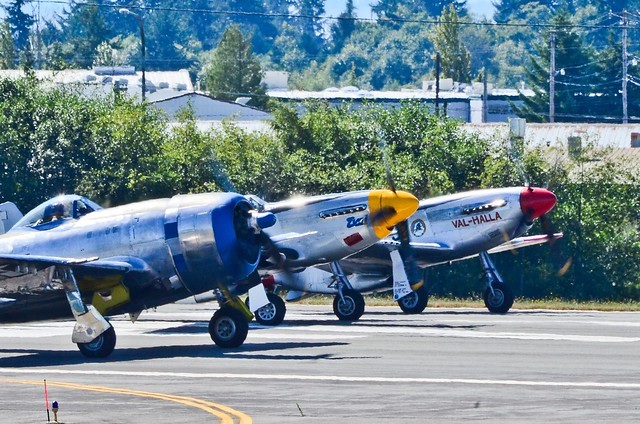 Takeoff Power set, P-47 Thunderbolt, P-51B Mustang, P-51D Mustang