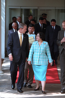 911: President George W. Bush with President of Indonesia, 09/19/2001.