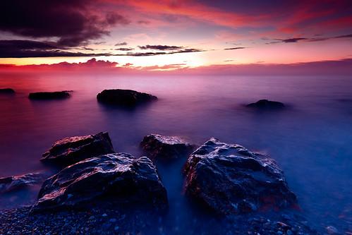 travel light sea mist lake motion blur color colour reflection wet water clouds sunrise canon landscape photography eos rocks long exposure mongolia 1635 hovsgol khovsgol 5d2