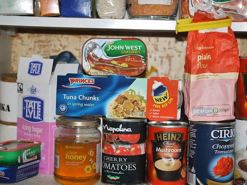 An array of basic tinned food