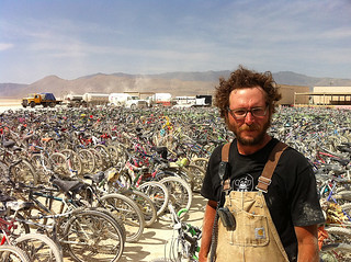 bikes at Burning Man