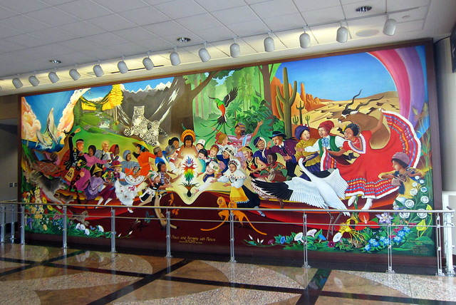 Denver denver international airport in peace and for Denver mural airport