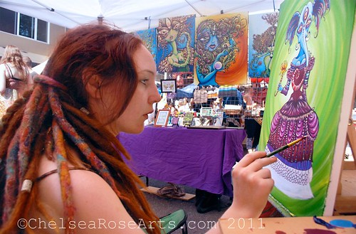 Live painting at the Belmont Street Fair