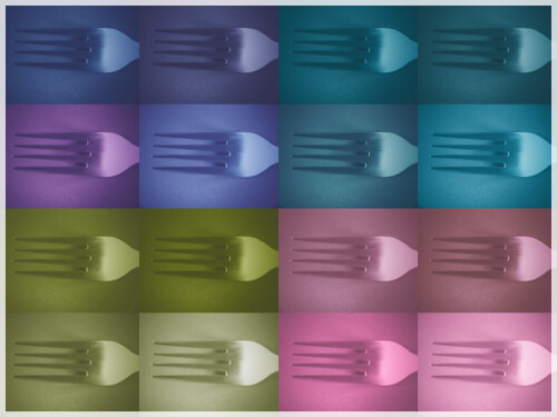 pop art fork