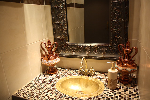robinet salle de bain original