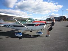 monoplane, aviation, airplane, propeller driven aircraft, wing, vehicle, cessna 172, ultralight aviation,