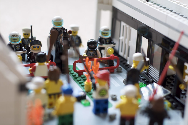 Lego town unrest