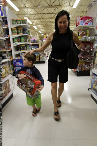 sequoia & grandma neeta wander the aisles of toys r us