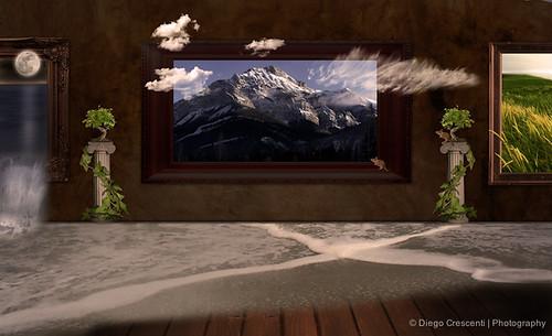 nuvole compositions surreal luna bonsai prato montagna colonna onda topolino composizione edera surreale dcimage