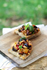 Bruschetta with Sicilian caponata