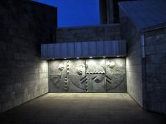Modern metal doors, Ingólfsstræti, Reykjavík