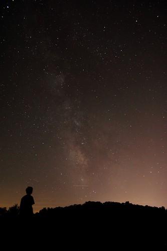 sky college night way star long exposure peace chapel trail milky juniata