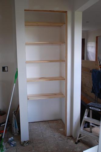 organization 101 building basic wood shelves diydiva. Black Bedroom Furniture Sets. Home Design Ideas