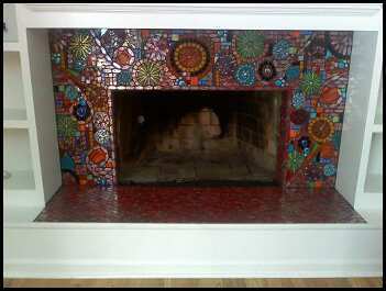 Glass Mosaic Fireplace Leann Flickr