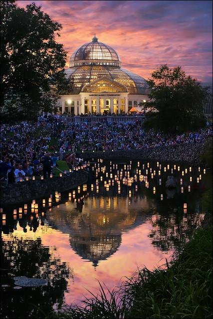 japanese lantern lighting festival - como park st. paul, mn
