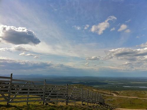 sky cloud fence finland landscape horizon lapland levi fell levitunturi kittilä sirkka levifell
