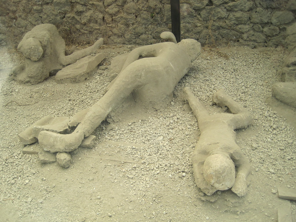 Plaster casts of victims found in the Garden of the Fugitives