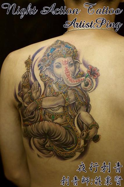 Ganesha tattoo 象神刺青 | Flickr - Photo Sharing!