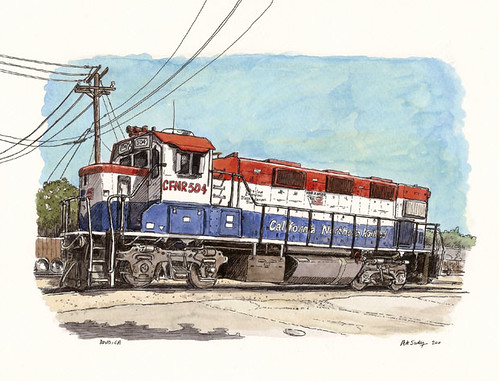 train engine in davis