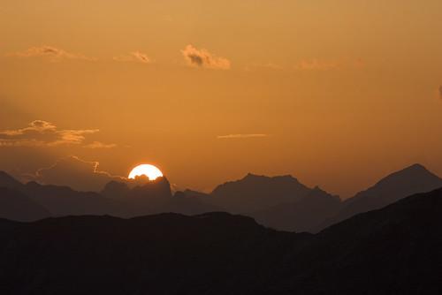 sunshine tramonto gavia