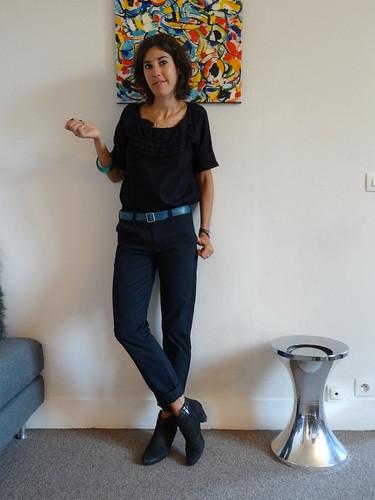 Style du vendredi 4 novembre forum mode - Que porter avec un pantalon bleu marine ...