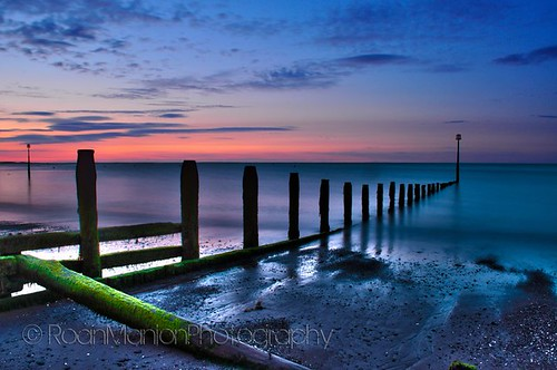 sunset sea seascape color colour beach sunrise landscape sand teignmouth