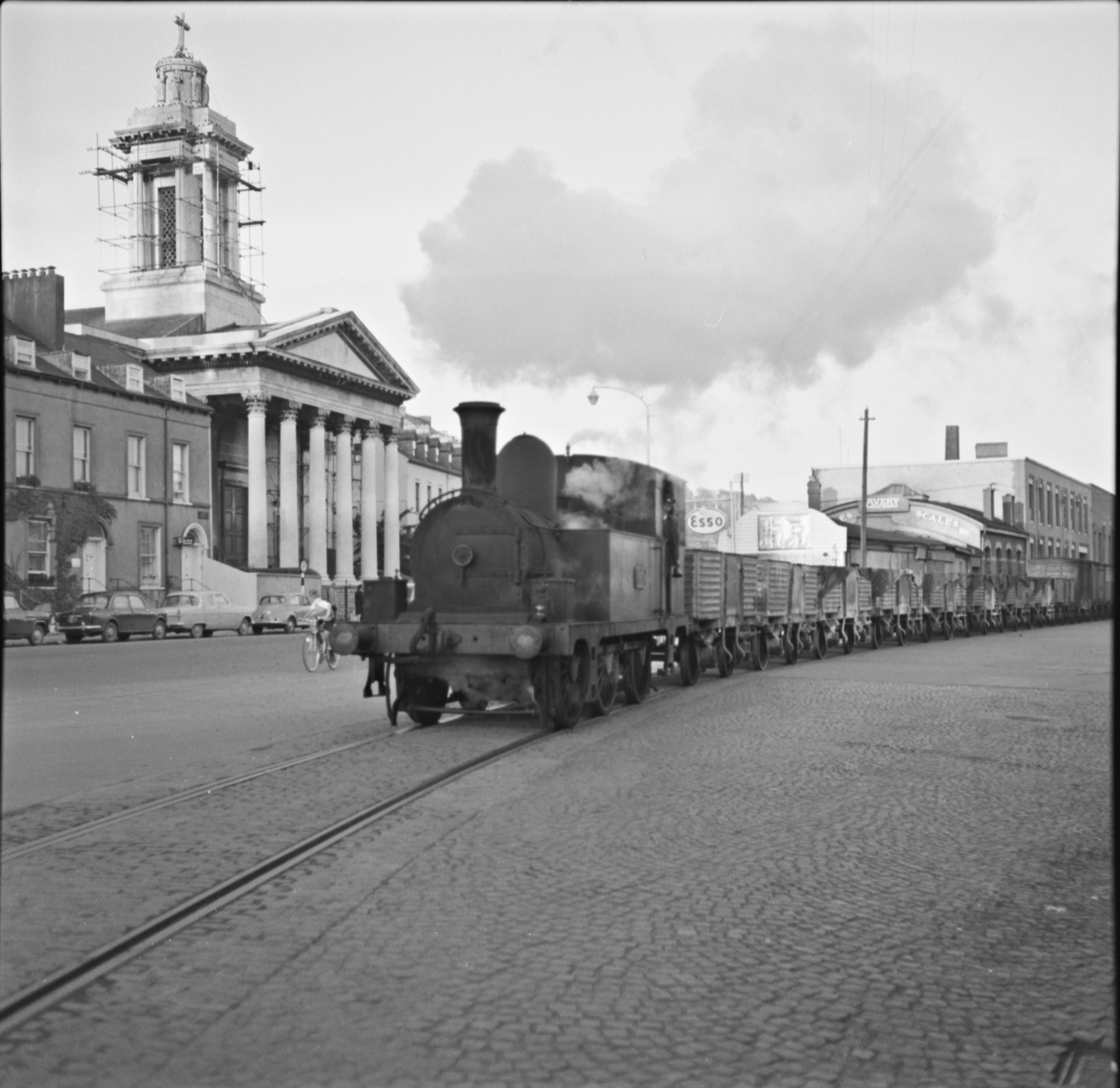 Old photo of Cross City Train, Cork, Ireland