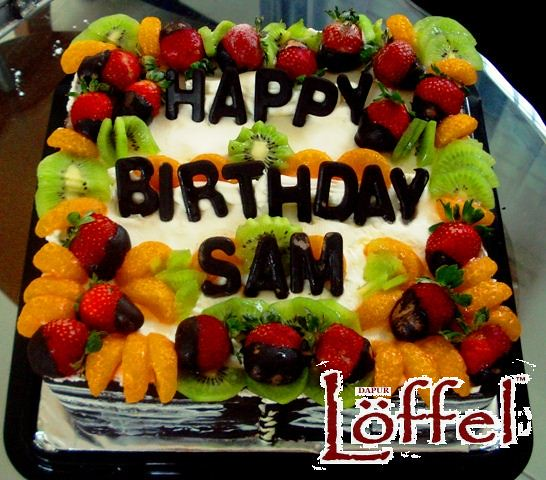 Friut Birthday Cake