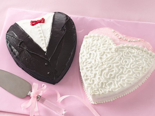 Bride and Groom Shower Cakes Recipe