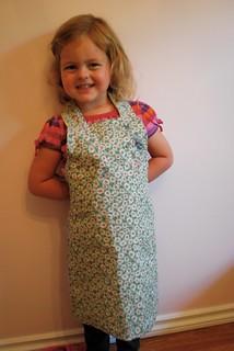 Daisy's daisy apron!