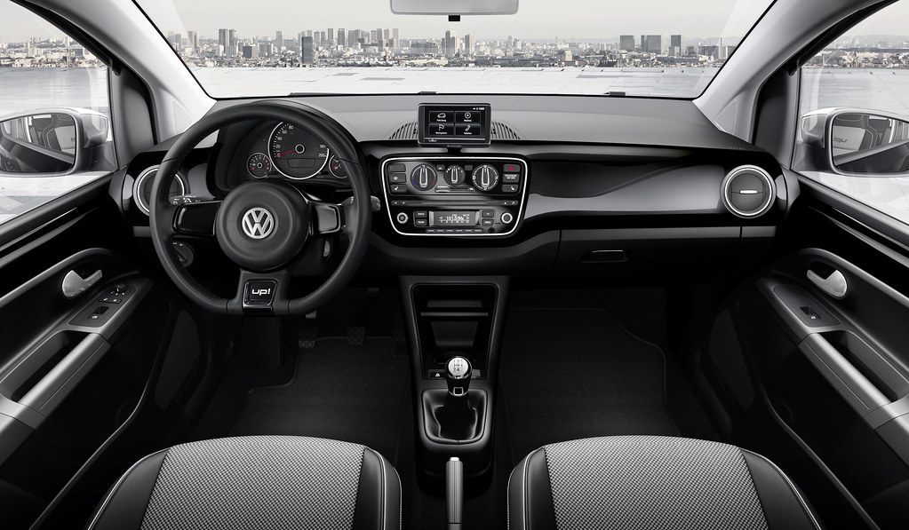 volkswagen up interieur en dashboard zwart model