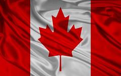 red, flag, maple leaf,