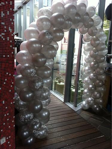 Ballonboog 6m Zilver 25 Jarige Bruiloft