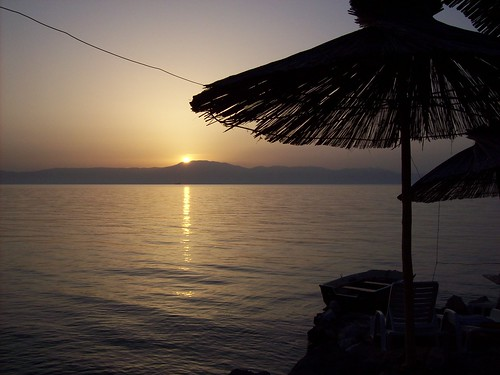 sunset sea sky sun beach bar dark island croatia palm krk otok njivice mediteran deic