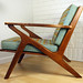 Danish Modern Z chair