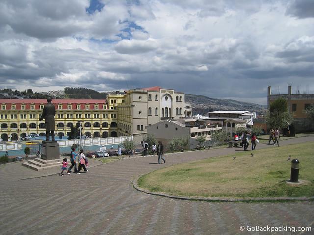 Near the historic city center of Quito