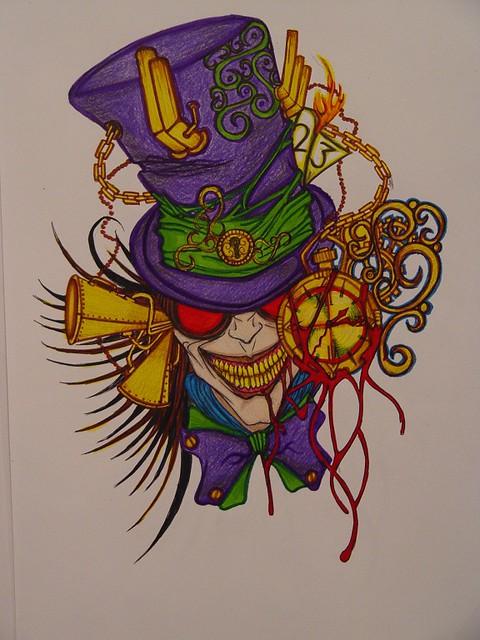 Tattoo Design Steam Punk Mad Hatter By RebirthMxD