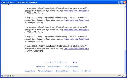Google Internet Censorship - Censure d'Internet par Google - Internet censuur door Google