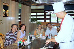 Chef gives the finishing touch at Memories of Japan