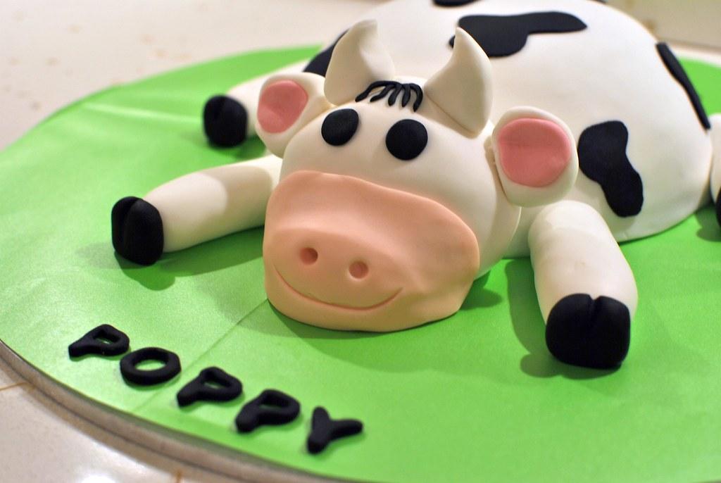 Poppys Cow Birthday Cake A Photo On Flickriver
