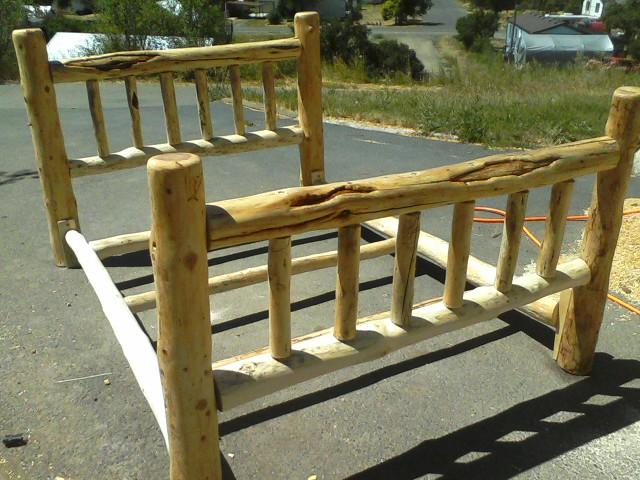 Pine log bed frame flickr photo sharing