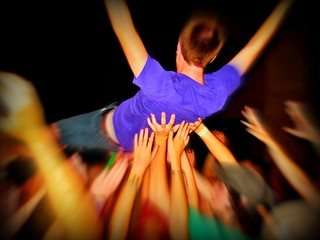 crowd surfer