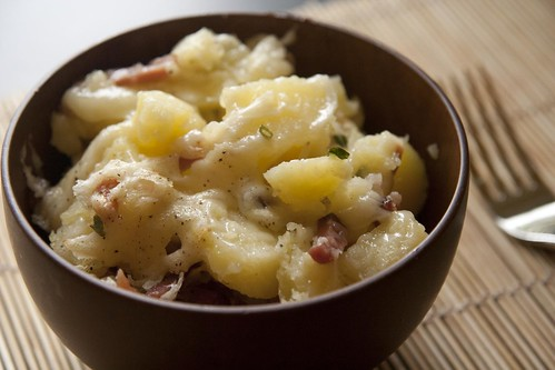 Potato, cheese and Speck