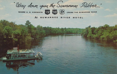 vintage river florida postcard motel oldtown suwannee