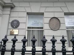 Photo of William Wilde brown plaque