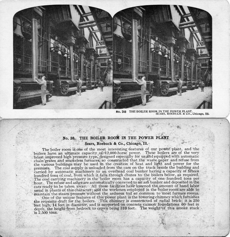 Boiler Room in the Power Plant - Sears Roebuck Chicago ILL 1906